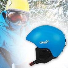 Ветрозащитный Регулируемый лыжный шлем ультра светильник для мужчин и женщин открытый зимний сноуборд безопасный интегрально формованный модный защитный для катания на коньках