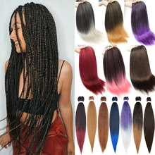 Braiding-Hair Synthetic Afro Pre-Stretched 26inch EZ 90g Yaki S-Noilite for Women Fluffy
