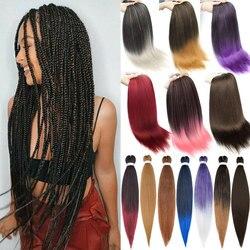 S-noilite 26 pouces 90g pré-tendu cheveux de tressage Yaki moelleux EZ tresse cheveux synthétique Afro tressage Extension de cheveux pour les femmes
