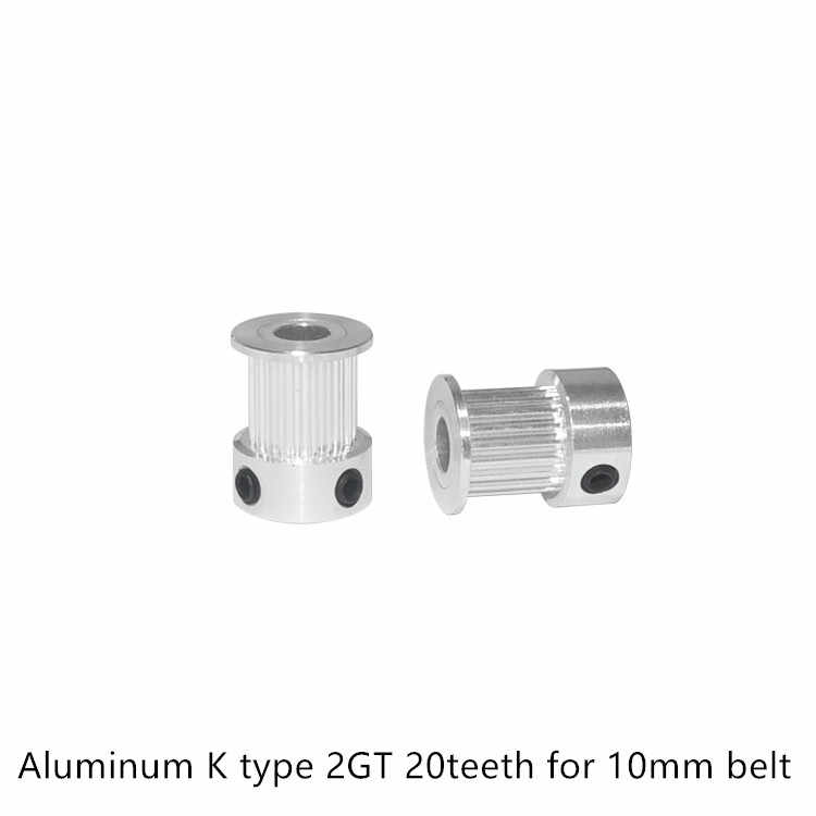 GT2 Timing Pulley 20 teeth Bore 3.17mm 4mm 5mm 6mm 6.35mm 8mm for width 9mm 10mm 2GT Synchronous Belt Small backlash 20Teeth