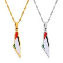 Anniyo palestina pingente colares slver cor/ouro cor jóias