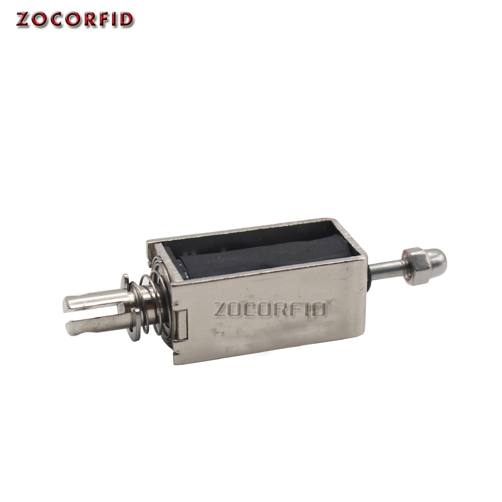 DC12V  Mini Electric Bolt Lock Push Pull Cylindrical Solenoid Lock 5mm Stroke Access Control Electric Electromagnetic Lock