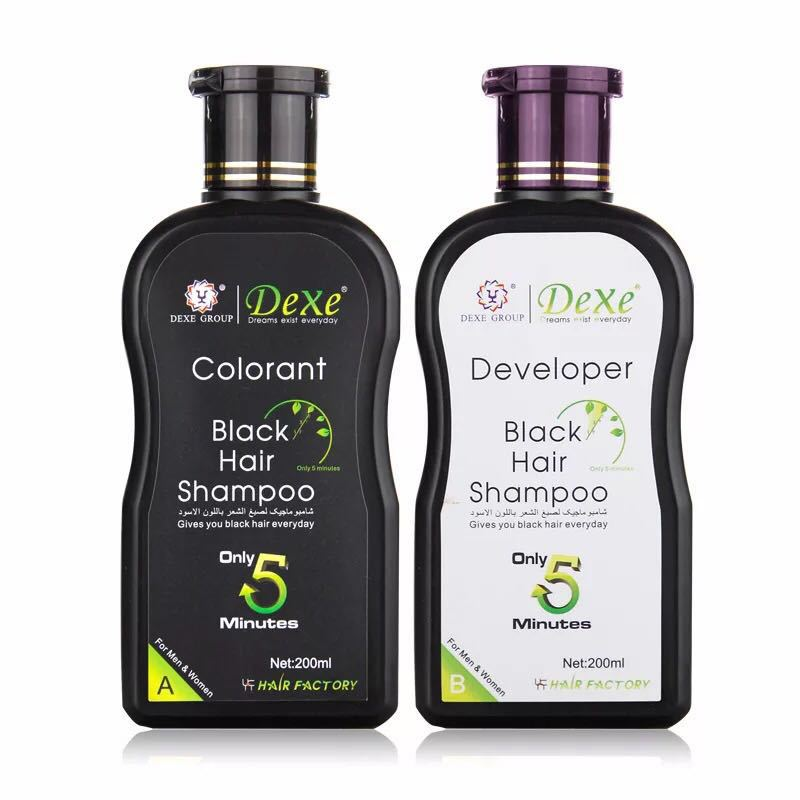 Dexe Black Hair Shampoo 10 Mins Dye Hair Into Black Herb Natural Faster Black Hair Restore Colorant Shampoo and Treatment|hair loss|hair loss productsanti hair loss - AliExpress