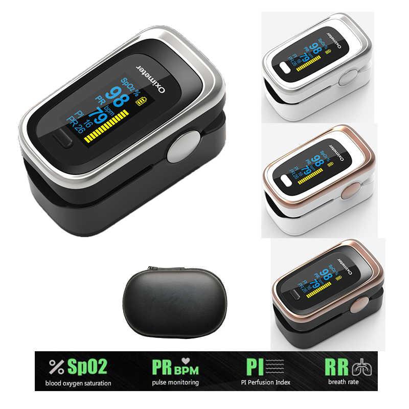 Портативный Пульсоксиметр Пальчиковый монитор насыщения крови кислородом домашний детектор здоровья частота дыхания PI мониторинг сна