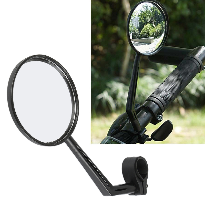 Bike Cycling Rear View Side Mirror Handlebar Flexible Safety Wide Angle Rearview