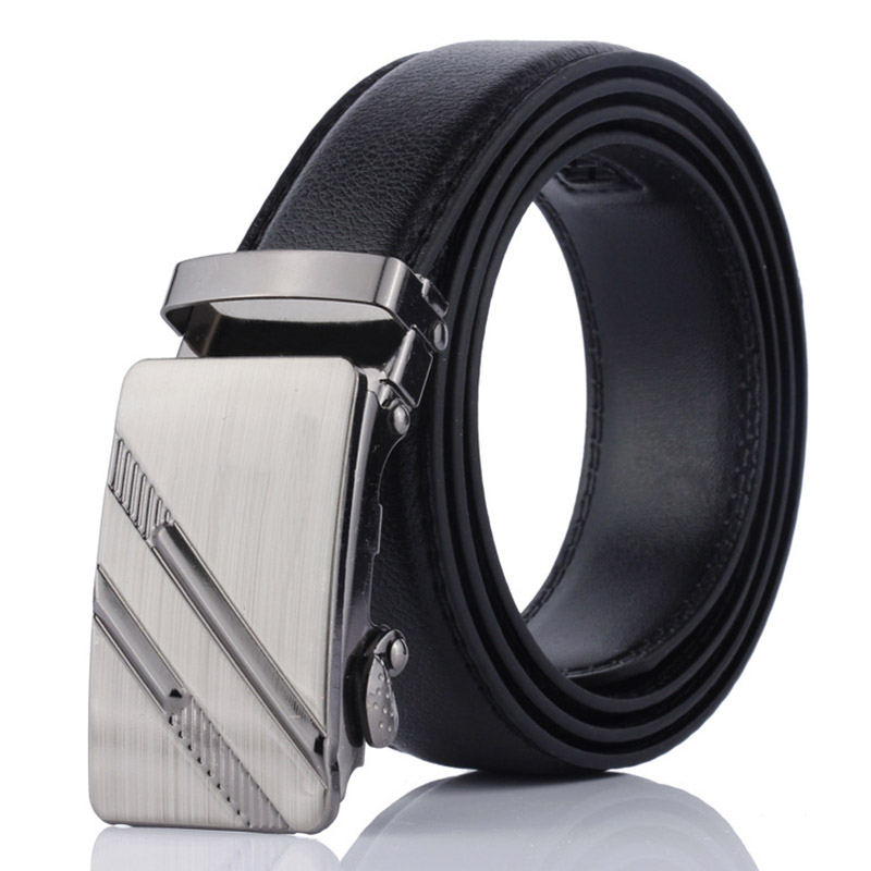 Famous Brand Belt New Male Designer Automatic Buckle Cowhide Leather Men Belt 105cm-125cm Luxury Belts For Men Ceinture Homme