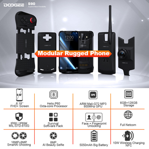 Image 2 - IP68/IP69K DOOGEE S90 Modular Rugged Mobile Phone 6.18inch Display 5050mAh Helio P60 Octa Core 6GB 128GB Android 8.1 16.0M Cam