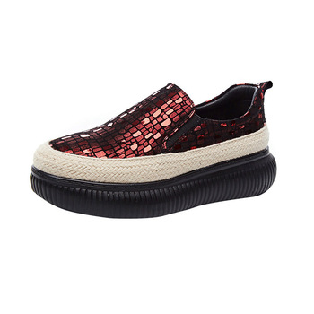 5CM 2020 moda flat platform loafers women's Casual Shallow harajuku Female Shoes Spring/Autumn red women sneakers tenis feminino