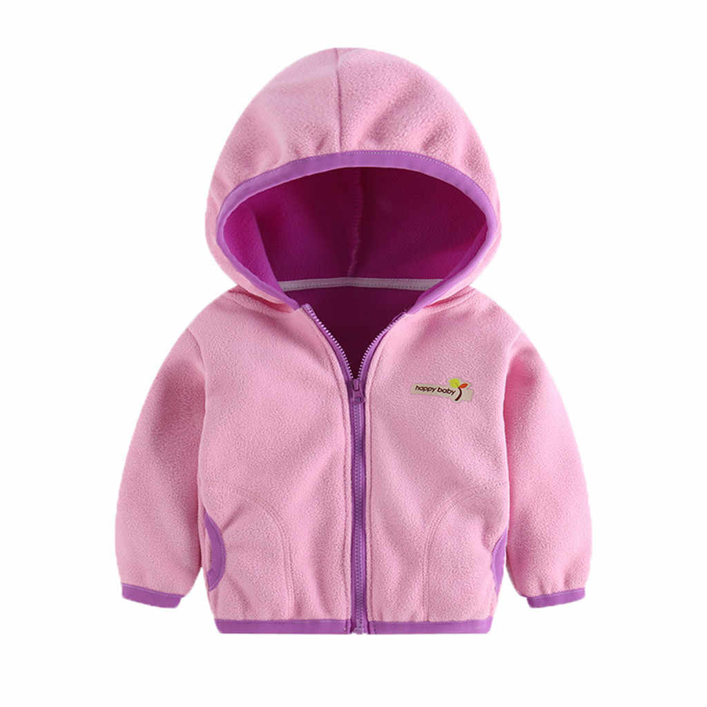 Arloneet Baby Meisjes Jongens Hooded Brief Sweatshirt Jassen Kids Winter Flanel Warme Truien Jas Bovenkleding Clothse CN01