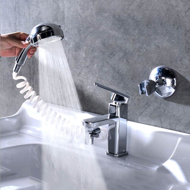 Bathroom Wash Face Basin Water Tap External Shower Head Toilet Hold Filter Flexible Rinser Extension
