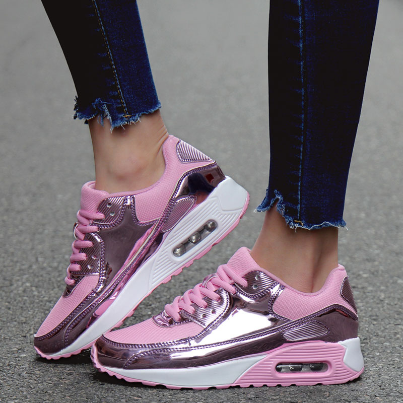 2020 New Women Air Cushion Casual Shoes Unisex Fashionable Womens Sneakers Breathable Ladies Trainers Zapatillas Mujer Deportiva|Women