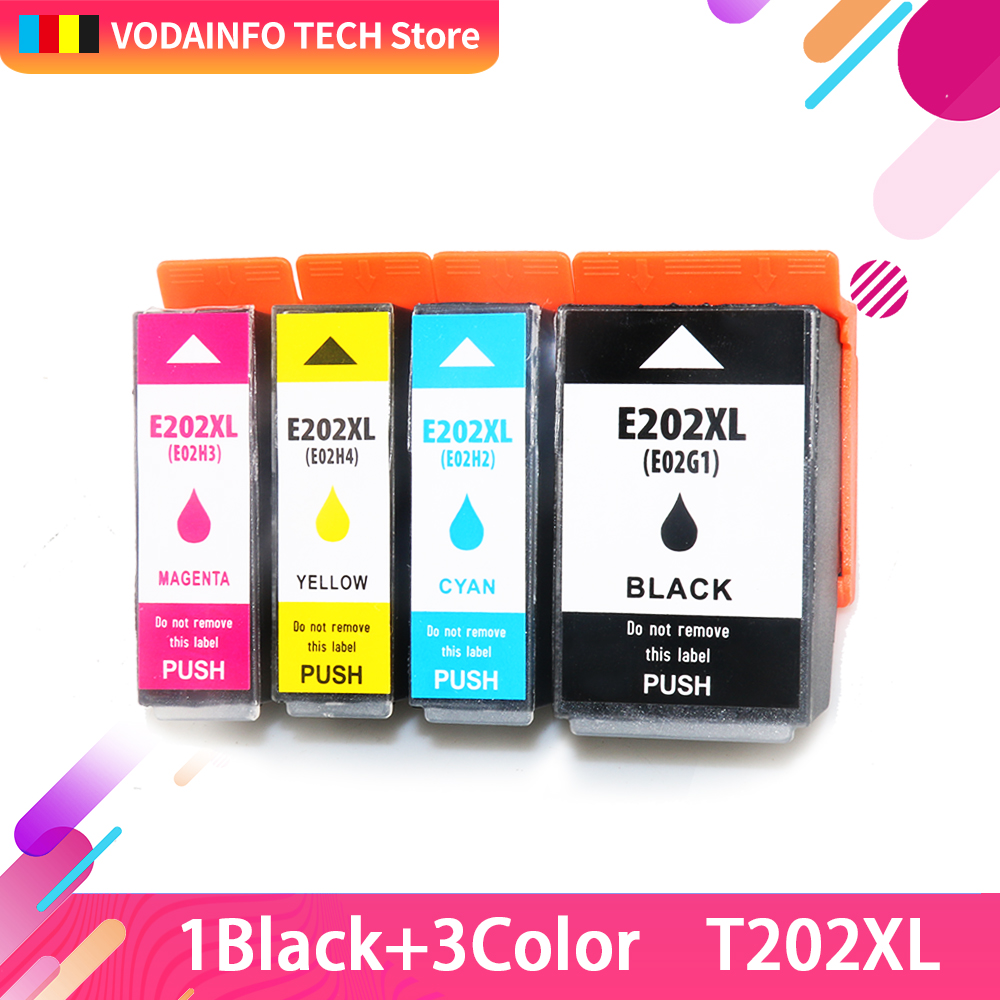 QSYRAINBOW Europe T202XL <font><b>202XL</b></font> Refillable Ink Cartridge with Chip for <font><b>Epson</b></font> Expression premium XP-6000 XP-6005 XP-6001 XP-6100 image