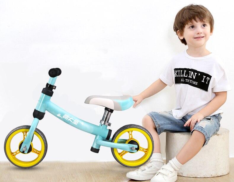 H3a41b9aa4c8547149e398f8a1875e178g High Carbon Children Balance Bike Walker Kids Ride on Toy Gift for 1.5-3Years Children for Learning Walk Scooter 8inch Kids Bike