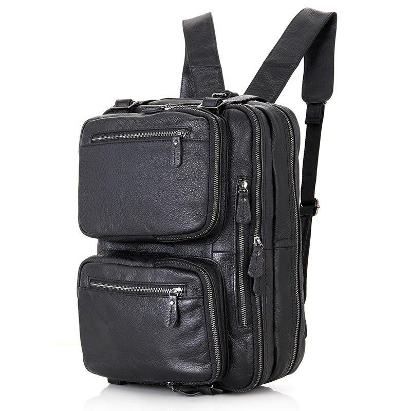 Vintage Men Briefcase Crazy Horse Genuine Leather Man Male Laptop Handbag Large Shoulder Messenger Portfolio Bag