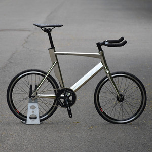20 inch FIXED GEAR BIKE Aluminum Alloy Frame Single Speed Road Bike With Small Diameter Wheels,Include Double V Brake