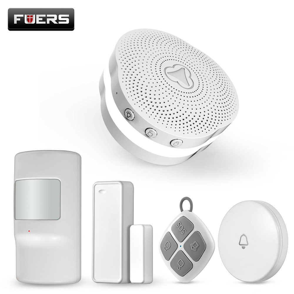 Fuers Smart Home Security Multifunctional WiFi Gateway Alarm System Intelligent Motion Detection Alarm System With Tuya APP