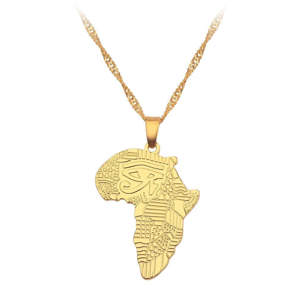 Новая карта страны, флаг, ожерелье, Африка, Гана, Liberia Undersea, Jamaica, Южная Африка, Congo, Honduras, подвеска, цепь, мужские ювелирные изделия - Окраска металла: Africa3