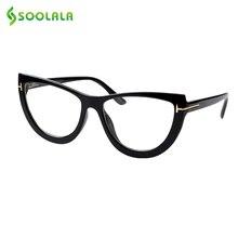 SOOLALA 봄 경첩 대형 고양이 눈 독서 안경 여성 안경 프레임 Presbyopic Reading Glasses 0.5 0.75 1.0 to 5.0