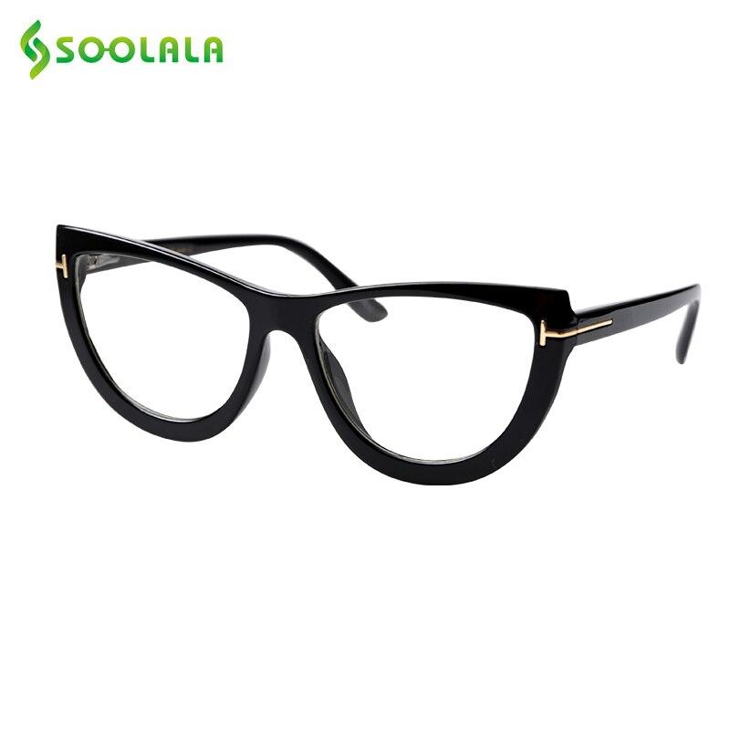 SOOLALA Spring Hinge Oversized Cat Eye Reading Glasses Womens Eyeglasses Frame Presbyopic Reading Glasses 0.5 0.75 1.0 To 5.0