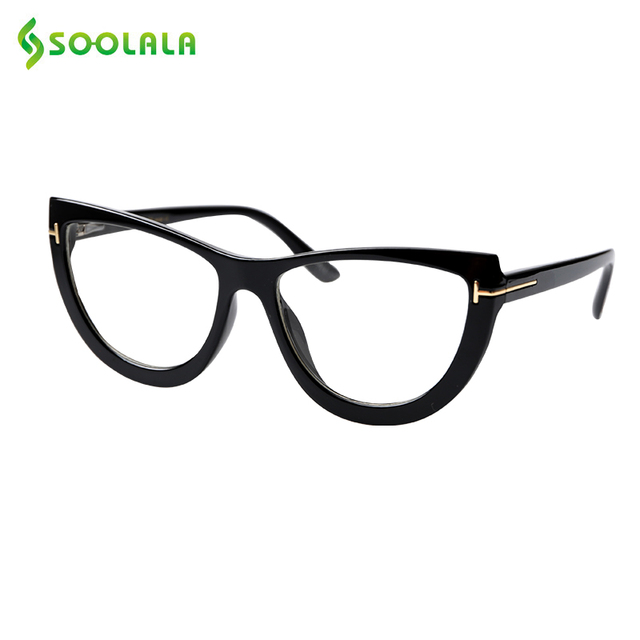 SOOLALA Spring Hinge Oversized Cat Eye Reading Glasses Womens Eyeglasses Frame Presbyopic Reading Glasses 0.5 0.75 1.0 to 5.0