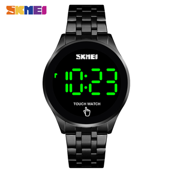 SKMEI Fashion Men Led Light Touch Screen Digital Watches Stainless Steel Waterproof Male Wristwatch Clock Relogio Masculino 1579 - discount item  55% OFF Men's Watches