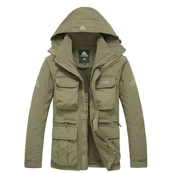 Men Tactical Jacket Autumn Quick Dry 2-in-1 XXXL Military Style Army Coat Male 2020 Multi Pockets Hooded Windbreaker Waterproof - discount item  22% OFF Coats & Jackets
