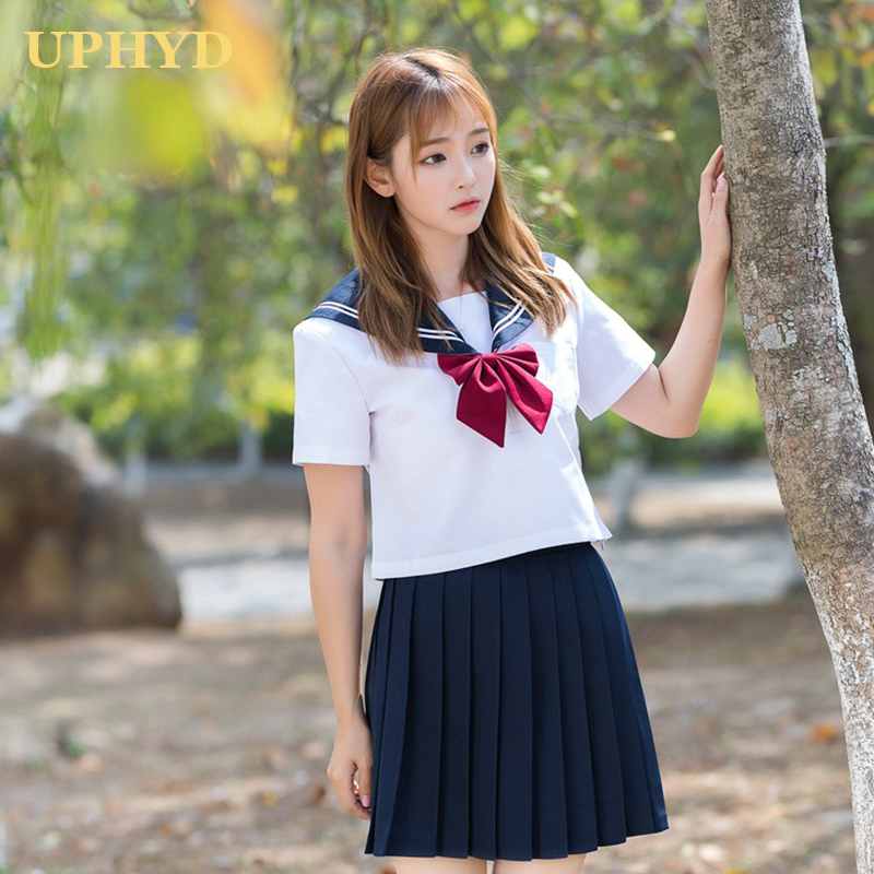 2021 Spring New Japanese School Girl Uniform Sets Girls Summer Hot JK Uniforms High School Women Novelty Sailor Suits XXL