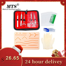 Kit de treinamento de sutura cirúrgica pele almofada de treinamento médico operar sutura prática modelo de sutura bisturi agulha-suporte