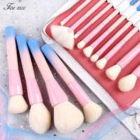 14 шт./компл. градиент Ручка кисти для макияжа, кисти для макияжа, мягкие синтетические волоски, кисть с тонального крема Мощность набор кисте...