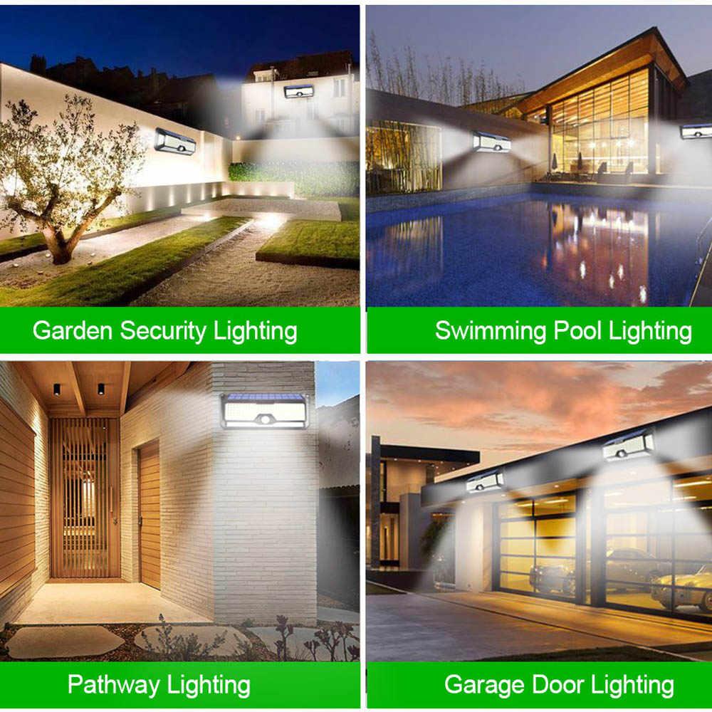 Outdoor Verlichting Solar Motion Sensor Licht Nieuwe Upgrade 268 Led Solar Lamp Waterdicht Voor Tuin Decoratie Straat Beveiliging Licht lamp stairs outdoor solar wall light outdoors buitenverlichting zonne energie
