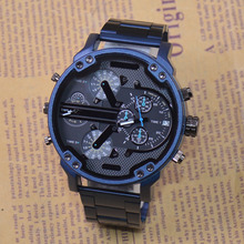 Reloj de cuarzo para hombre, reloj de pulsera masculino, con múltiples zonas horarias, fecha automática, Gel de sílice, movimiento militar, todoterreno