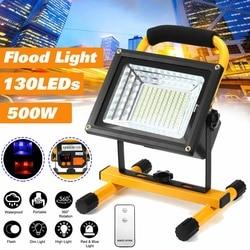 500W 130 LED Akku Flutlicht Wasserdicht Spot Arbeit Camping Outdoor Handheld Arbeit Lichter Durch 18650 Tragbare Laterne
