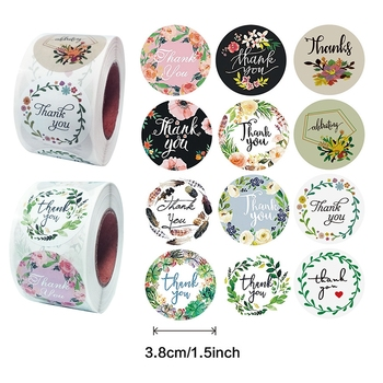 500pcs Pretty 3.8cm Flower Round Thank You Seal Sticker Gift Packing Decration for Kids DIY Diary Scrapbooking Stationery pretty reckless pretty reckless who you selling for 2 lp