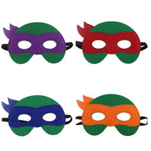 Turtles Cosplay Birthday Party Felt Mask Halloween Easter Christmas kids Costumes Masks NEW