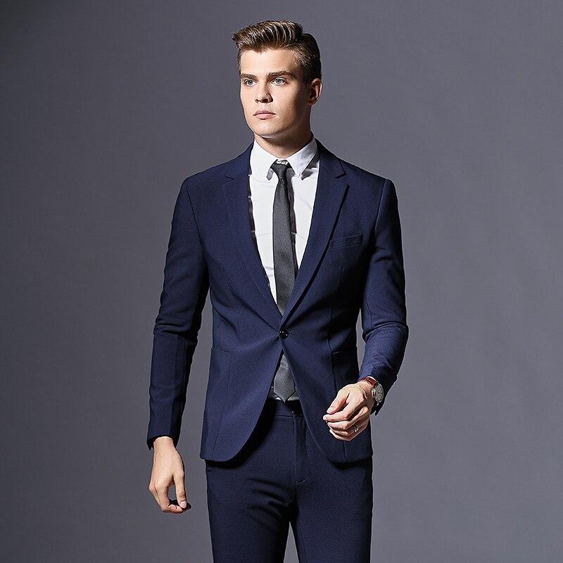 2019 New Men's Business Suits Men Wedding Party Casual Suits 3 Piece High Quality Suits Jacket Vest Pant Casual Slim Fit Suit