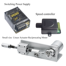 Small DIY Design Reciprocating Linear Actuator Kit With Switching Power Supply&Speed Controller DC Motor 12V 24V For Sex Machine ac100 240v input and 12 24v dc ouput wireless type linear actuator controller power supply for doubles linear actuators