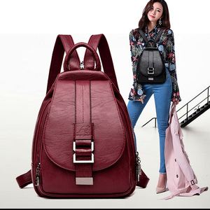 Image 5 - 2019 Women Backpack Multifuction Female Backpack Casual School Bag For Teenager Girls High Quality Leather Shoulder Bag For Lady