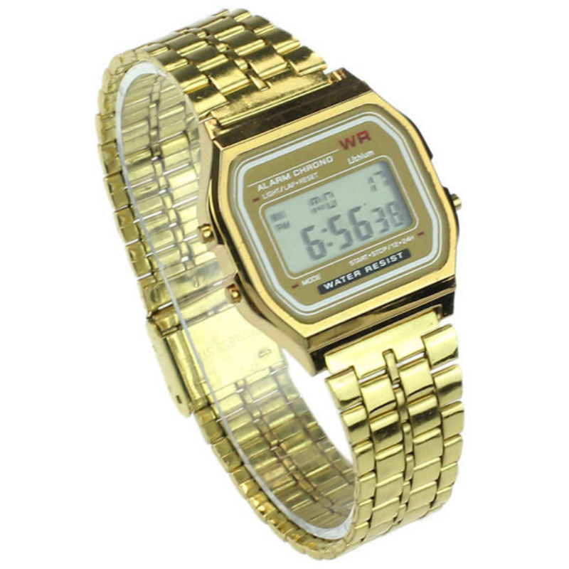 Square  Restoring Ancient Ways  Trend  Student Electronic Watch  Square  Alloy Belt Children  Watch-1