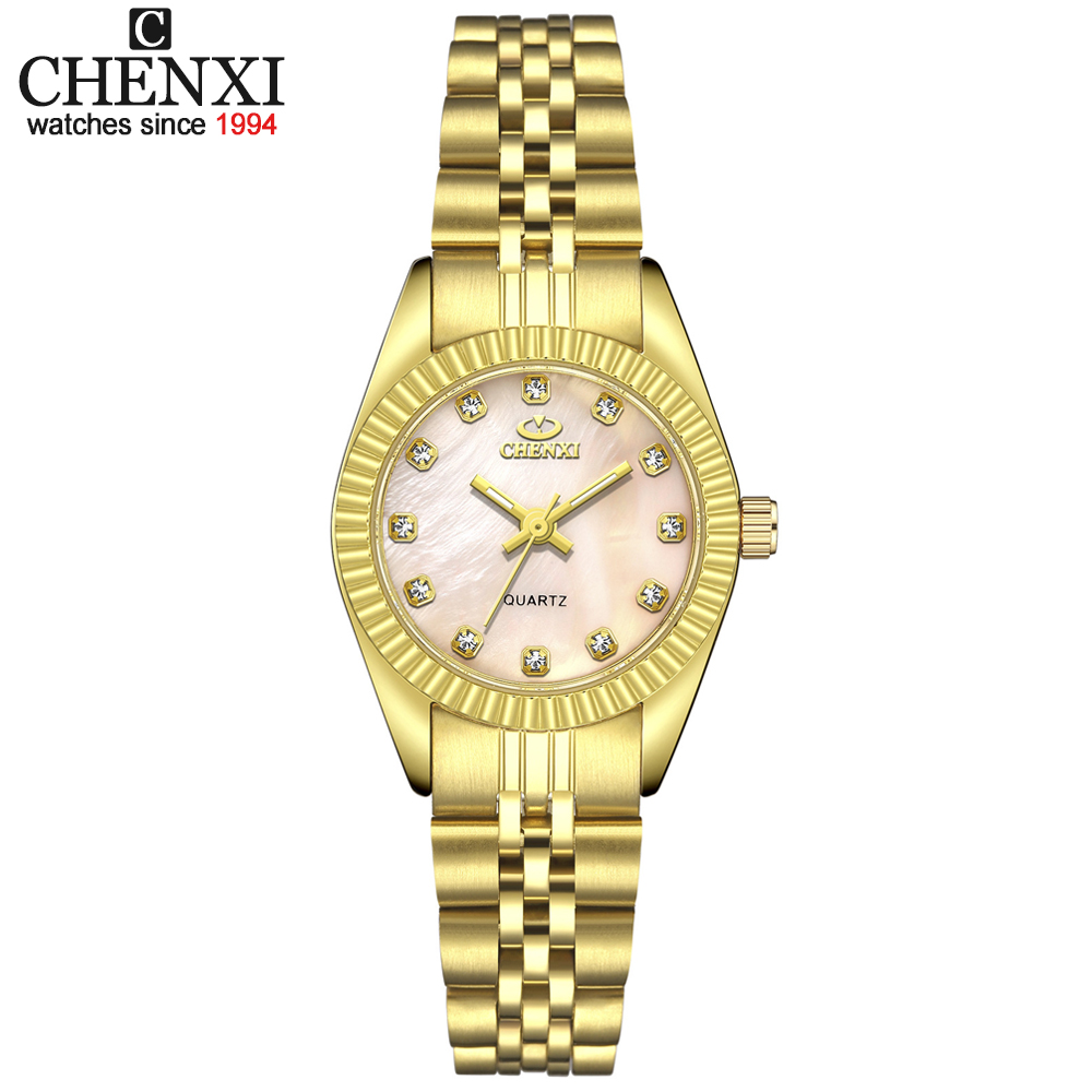 CHENXI Luxury Style Women Watch Stainless Steel Quartz Watches Waterproof Diamond Woman Wristwatch Fashion Elegant Ladies Clock