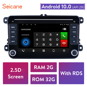 Seicane For VW/Volkswagen/Golf/Tiguan/Passat/b6 b5 RAM 2GB ROM 32GB Android 10.0 RDS 2.5D Car Head Unit Stereo player Radio GPS image