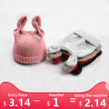 Cute Knitted Hat For Baby Girl Boy 2019 New Winter Knitted Kid Toddler Girl Boy Warm Cute Beanie Autumn Baby Hat Cap Accessories baby hats baby toddler kids boy girl knitted crochet rabbit ear beanie winter warm hat cap dropship ma30m30