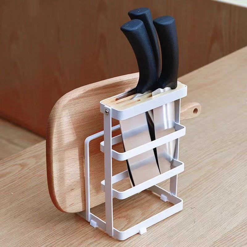 Metal Kitchen Organizer For Cutting Board Knife Drainer Shelf Cooking Dish Storage Rack Pan Cover Stand Kitchen Accessories