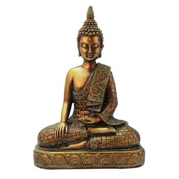 Tailand Golden Buddha Figurines Decoration Desktop Resin Crafts Vintage Buddha Statue