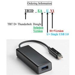 تحويل Thunderbolt 2 إلى USB3.0 محول 15 سنتيمتر كابل TBT 20 متر منفذ واحد USB3.0A موصل سالب دونغل ل قطعة الكمبيوتر المحمول