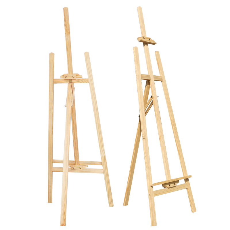 1.45 M Yellow Pine Wooden Easel Solid Wood Pine Wood Easel Wood Sketch Fine Art Canvas Frame Advertisement Display Easel