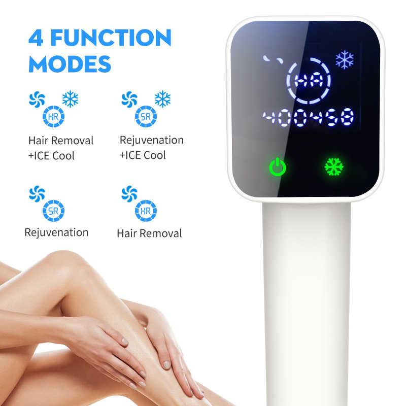 Lescolton, depilación IPL todo en uno, 400000 Flash, depiladora fría con láser permanente, cortadora de Bikini, depilación con fotorejuvenecimiento