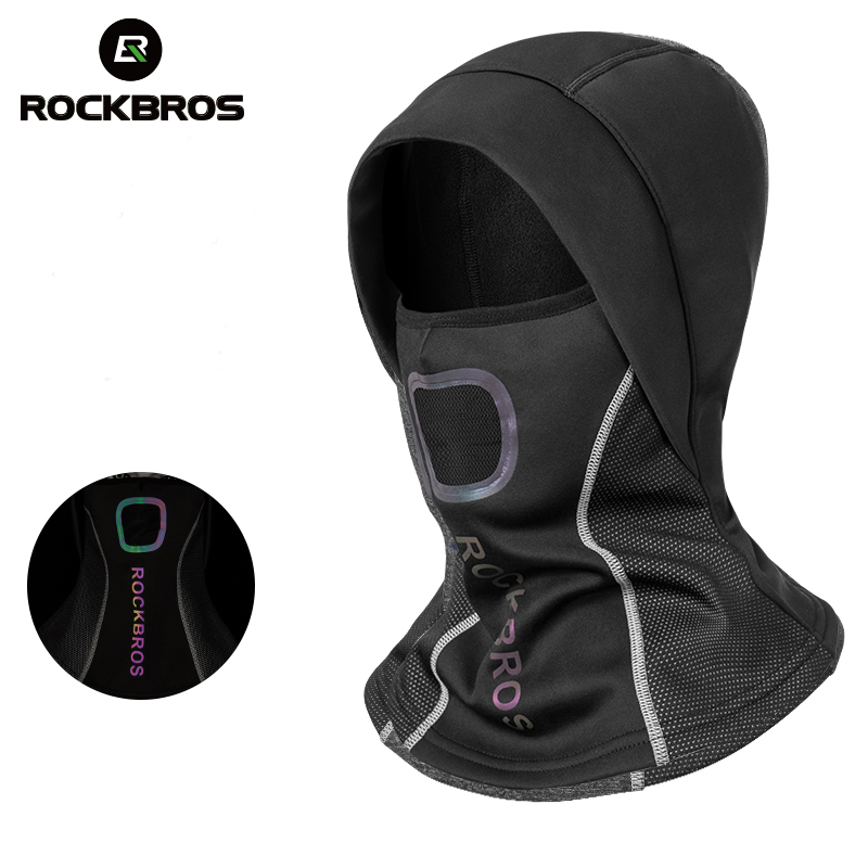 Image 1 - ROCKBROS Winter Cycling Cap Fleece Thermal Keep Warm Windproof Cycling Face Mask Balaclava Skiing Fishing Skating Hat Headwear-in Cycling Face Mask from Sports & Entertainment