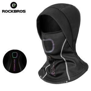 ROCKBROS Winter Cycling Cap Fleece Thermal Keep Warm Windproof Cycling Face Mask Balaclava Skiing Fishing Skating Hat Headwear