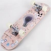 For Adult professional Double Rocker Skate Board Four wheel skateboard Drift plate