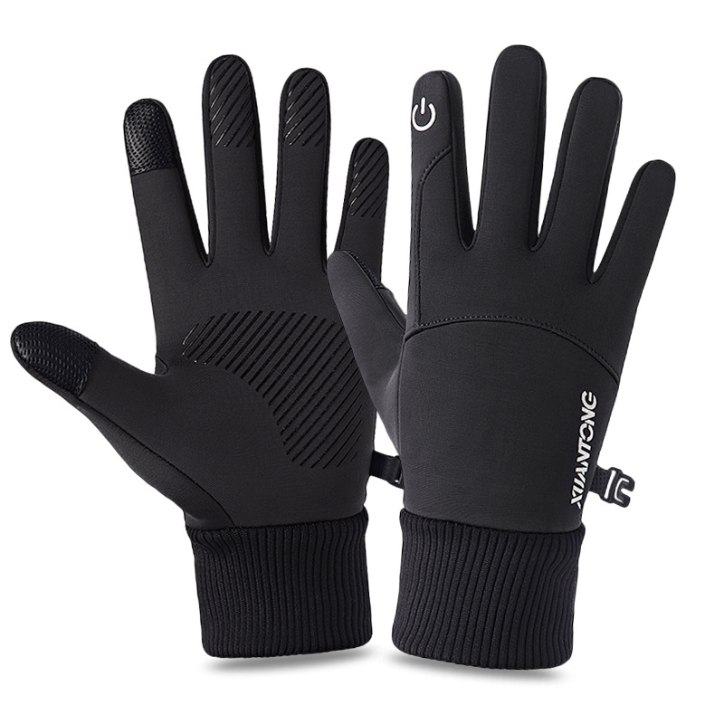 Перчатки для сенсорных экранов для мужчин и женщин, зимние теплые варежки Goves, закрывающие пальцы перчатки для вождения, мотоцикла, велоспор...